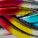 6fili intrecciato Stampo arcobaleno laminato