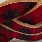 6fili intrecciato Stampo leopardato rosso