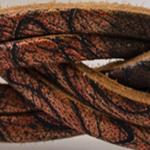 6fili intrecciato Stampo maculato marrone